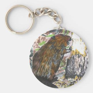 Busy Beaver Keychain
