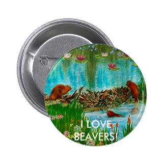BUSY BEAVER KIDS Gift Items Pinback Button