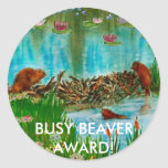BUSY BEAVER KIDS Gift Items Round Sticker