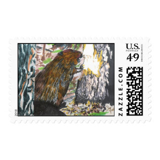 Busy Beaver Postage Stamp
