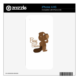 Busy Beaver Skin For The iPhone 4