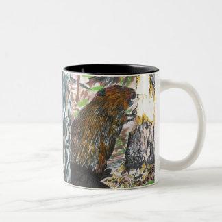 Busy Beaver Two-Tone Coffee Mug