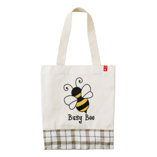 Busy bee2 zazzle HEART tote bag