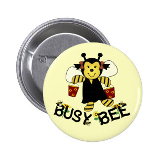 Busy Bee 2 Inch Round Button