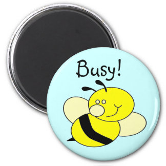 Busy Bee 2 Inch Round Magnet