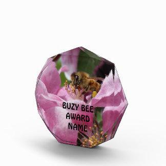 Busy Bee Award Honey Bee Crabapple Blossom
