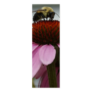 Busy Bee Book Marker Double-Sided Mini Business Cards (Pack Of 20)