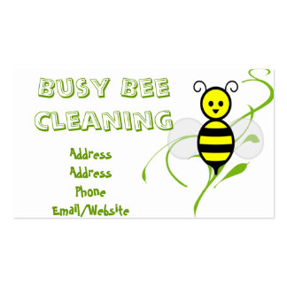 Busy Bee Clip Art Double-Sided Standard Business Cards (Pack Of 100)