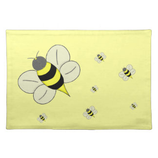 Busy bee cloth placemat