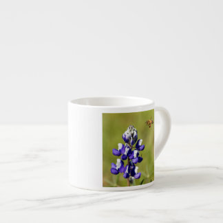 Busy Bee Contemplating a Wild Lupin Flower Espresso Cup