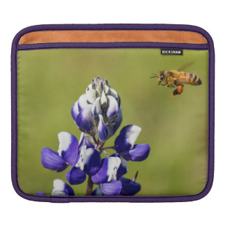 Busy Bee Contemplating a Wild Lupin Flower Sleeve For iPads