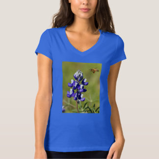 Busy Bee Contemplating a Wild Lupin Flower T-Shirt