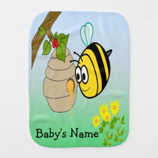 Busy Bee Cute Baby Burp Cloth