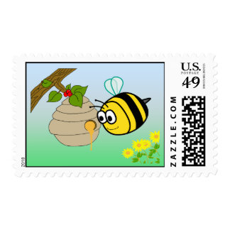 Busy Bee Cute Postage