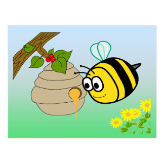 Busy Bee Cute Postcard