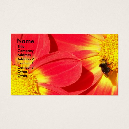 Busy Bee Floral Photo Business Card