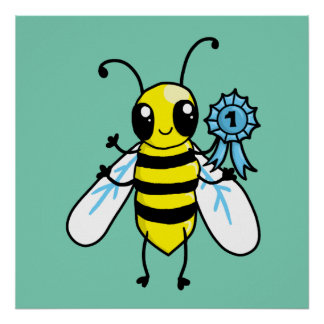 Busy Bee hard work Poster