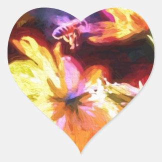 Busy Bee Heart Sticker