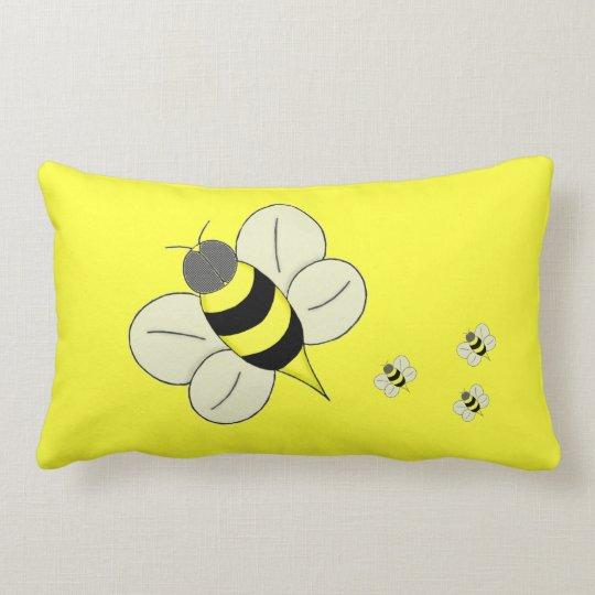 Busy bee lumbar pillow