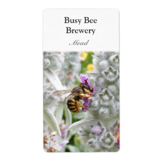 Busy Bee ~ Mead Wine Label