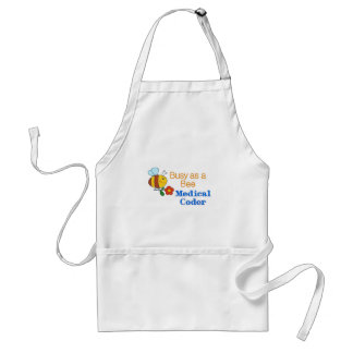 Busy Bee Medical Coder Adult Apron