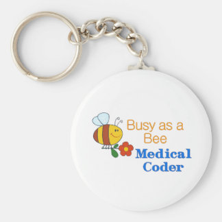Busy Bee Medical Coder Keychain