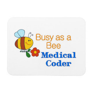 Busy Bee Medical Coder Magnet