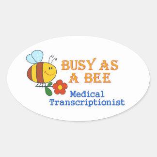 Busy Bee MT Oval Sticker