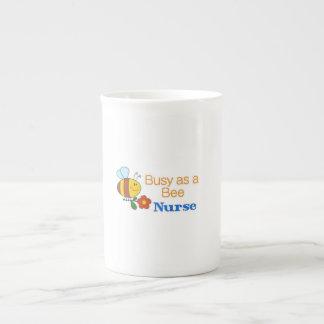 Busy Bee Nurse Bone China Mugs
