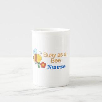 Busy Bee Nurse Porcelain Mugs