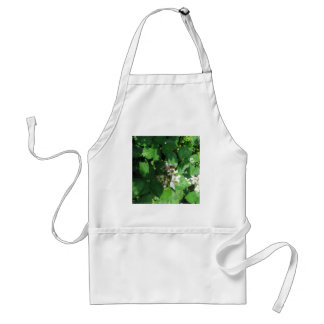 Busy Bee on Blackberry Flowers - Photograph Adult Apron