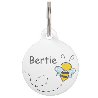 Busy Bee Pet Name Tag