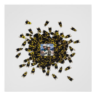 Busy Bee ~ PHOTO INSERT / COLOR CHANGE 40x40 Poster