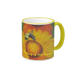 """""""Busy Bee"""" Ringer Mug"""