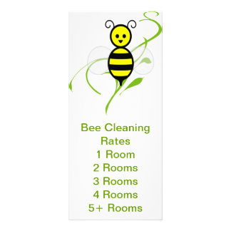 Busy Bee Service Rates Handout Personalized Rack Card