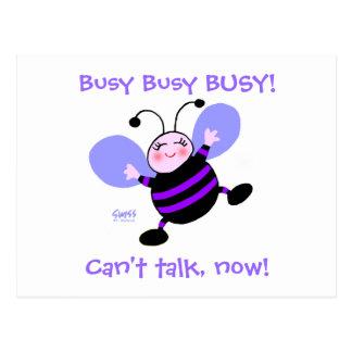 Busy Bee Single Woman's Change of Address Postcard