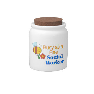 Busy Bee Social Worker Candy Jars