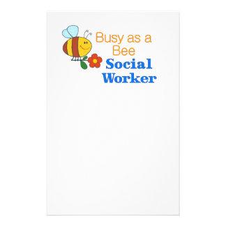 Busy Bee Social Worker Flyer Design