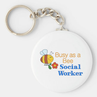 Busy Bee Social Worker Keychains