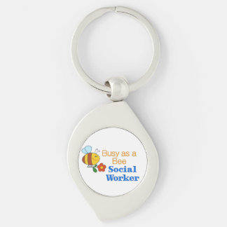 Busy Bee Social Worker Keychain
