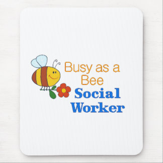 Busy Bee Social Worker Mouse Pad
