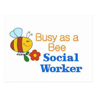 Busy Bee Social Worker Postcard