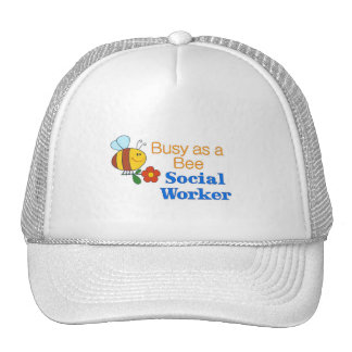 Busy Bee Social Worker Trucker Hat