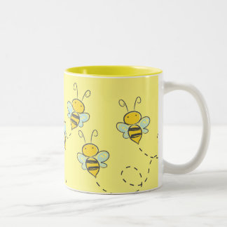 Busy Bee Two-Tone Coffee Mug