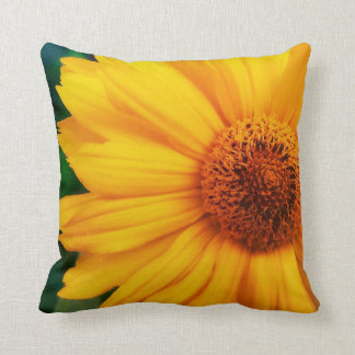 busy bee yellow throw pillow