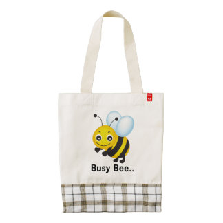 Busy bee zazzle HEART tote bag