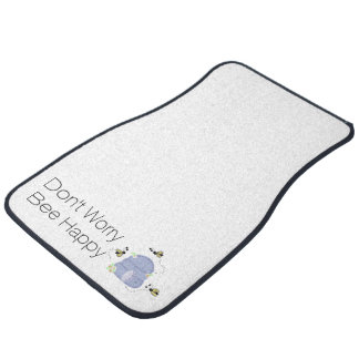 Busy Bees and Their Beehive Car Mat