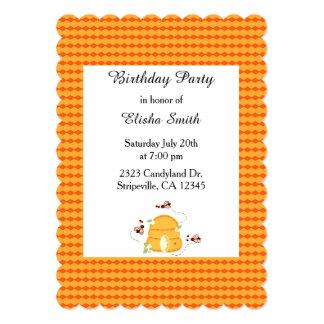 Busy Bees Birthday Invitation
