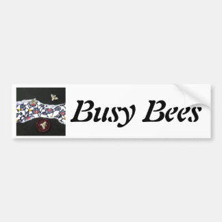 Busy Bees - collage Bumper Sticker