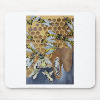 Busy Bees Mouse Pad
